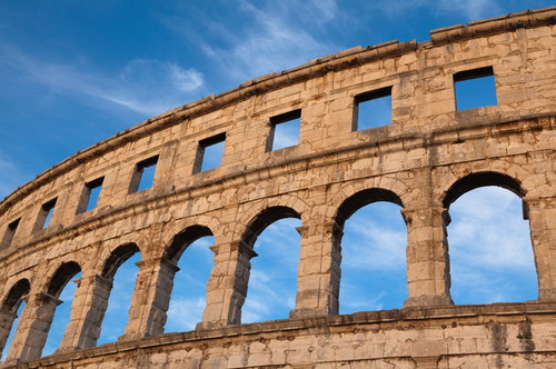 Coliseum in Pula, Croatia.