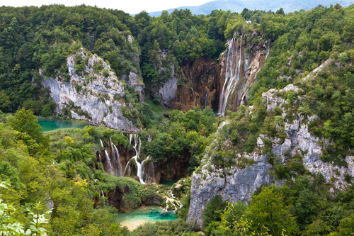 Plitvice lakes in Croatia.