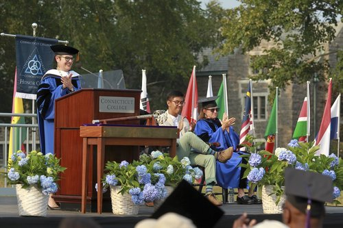 NEW LONDON, CT Connecticut College held its 101st Convocation on Tempel Green. Professor Jefferson Singer, newly named Dean of the College, gave the Convocation Address .