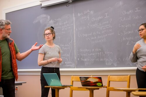 Petko Ivanov's Slavic Studies class. Stephanie Reeves, featured in the admission viewbooks.