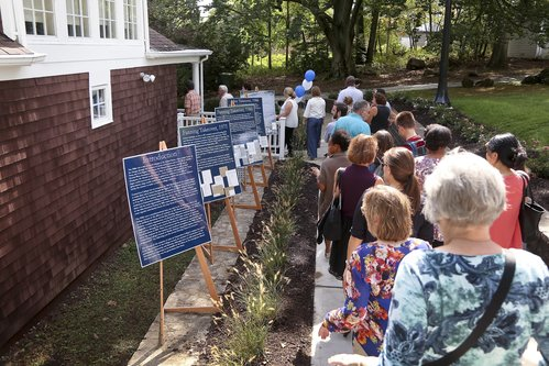 NEW LONDON, CT  Ribbon Cutting ceremony for new road and reintroduction to Unity House.