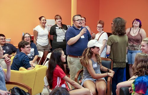 NEW LONDON, CT  Connecticut College LGBTQIA Center holds an Ice Cream Social in their newly decorated space.