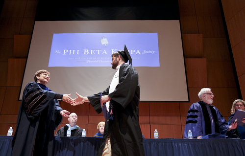 NEW LONDON, CT  Connecticut College Commencement 2017, Saturday events - Phi Beta Kappa Initiation Ceremony.