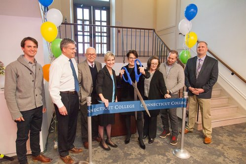 Ribbon cutting ceremony for the Otto and Fran Walter Commons for Global Study and Engagement
