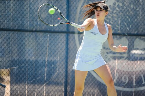 Acton Shots taken from Connecticut College Women's Tennis vs Trinity College, hosted by Connecticut College on Apr. 22, 2018.   Connecticut College won, 5-4