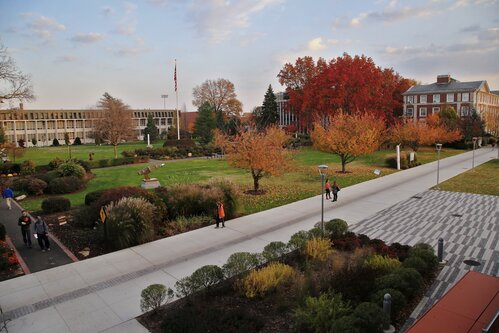 A fall afternoon on Adelphi campus.
