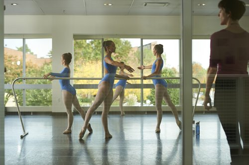 Ballet class and professor