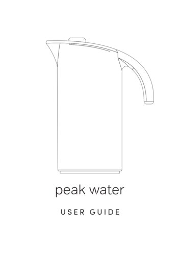 Instruction manual for Peak Water
